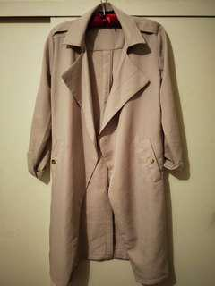 Ally lilac trench size 8