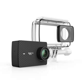 YI 4K+/60fps Action Camera with Waterproof Case, Plus Voice Control, Live Streaming, and 12MP RAW image (Black)  --- 863
