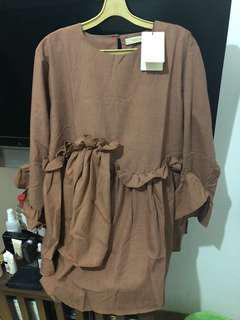 Tops blouse ruffles