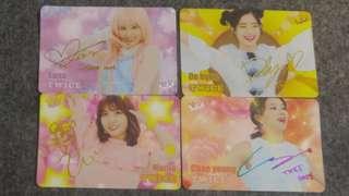 Twice Yes Card  (3金簽+1彩簽) 多賢彩瑛sana momo