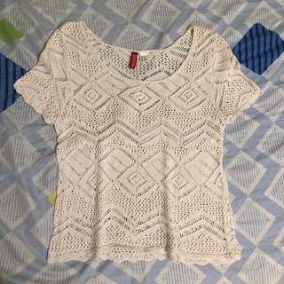 H&M crochet top