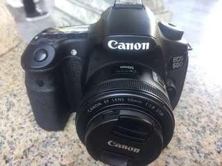 Canon 60D + lens 50 1.8MM STM No Boxs