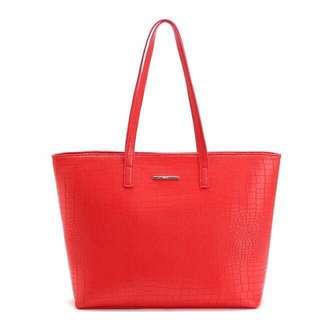 Mango Croco Shopper Tote Bag