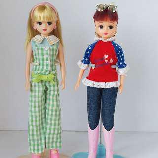 Licca Dolls Brunette and Blonde