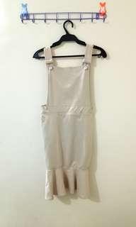 Nude jumper dress
