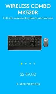 Logitech MK520R Wireless Keyboard Mouse Combo