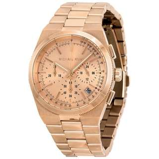 CHANNING CHRONOGRAPH ROSE DIAL ROSE GOLD-TONE LADIES WATCH MK5927