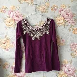 Purple Stretch Shirt