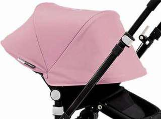 Bugaboo Cameleon pink hood with canopy clamps