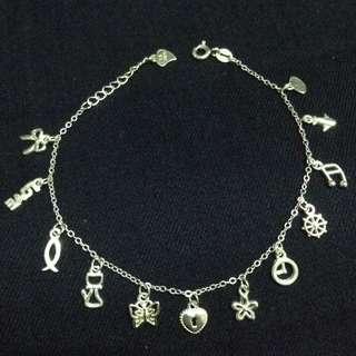 Multi Charms 925 Silver Bracelet