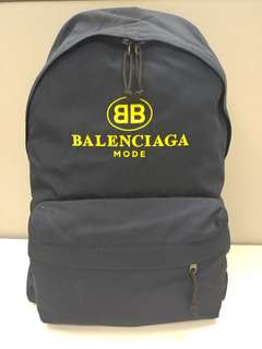 Balenciaga Explorer Logo Backpack 黃色螢光Logo背囊