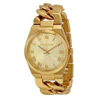 CHANNING GOLD DIAL GOLD-TONE LADIES WATCH MK3393