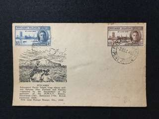 1946 Pitcairn Islands Victory Issue On FDC (Note:Toned)