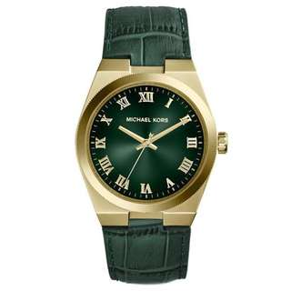 CHANNING GREEN DIAL GREEN LEATHER UNISEX WATCH MK2356