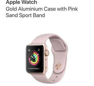 Apple Watch Series 3 - Pink Sand Gold 42mm