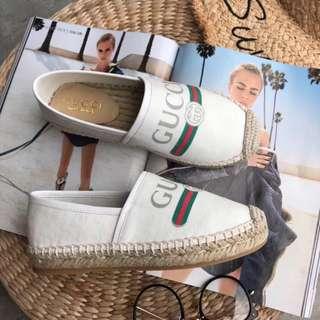GUCCI古奇2018新款漁夫鞋🆕 正品級原版貨 頂級品質▪️▫️舒適、輕便、鞋面純正 鞋口真皮包邊 內里進口羊皮 天然麻繩編織 真正用心打造出來的原版貨!Size 35-40 HH29877