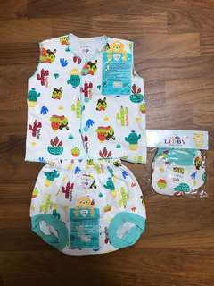 3-6 months Sleeveless Baby's Set