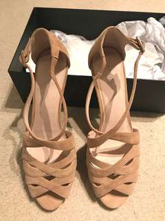 New David Lawrence Suede Leather Heels