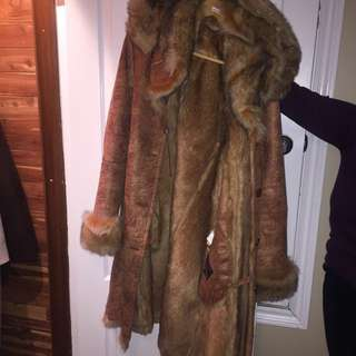 Warm fur coat