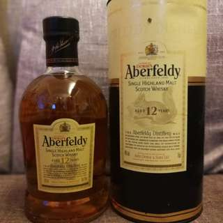 Aberfeldy whisky single malt 12 years