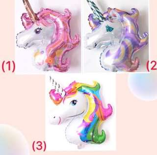 (16/7) Colourful Unicorn Rainbow mini foil balloon (wall deco normal air only)