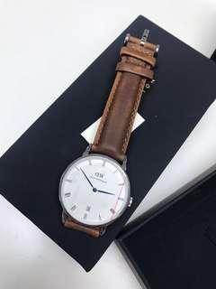 [減價只售$888] Daniel Wellington DW Durham RH WHITE 34 手錶