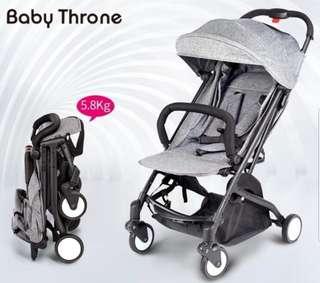 Baby throne wide cabin stroller in maroon