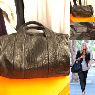 黑色真皮手袋 Alexander Wang black leather handbag