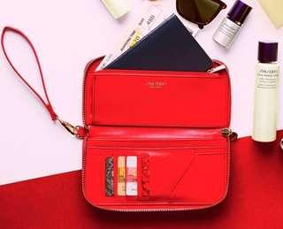 Shiseido 2018 夏日花椿壓紋旅遊手提包