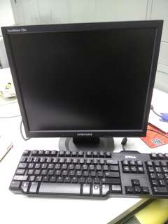 Samsung Monitor with Keyboard
