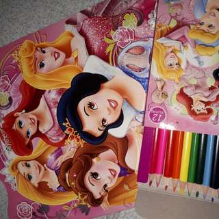 Coloring Book And Color Pencils