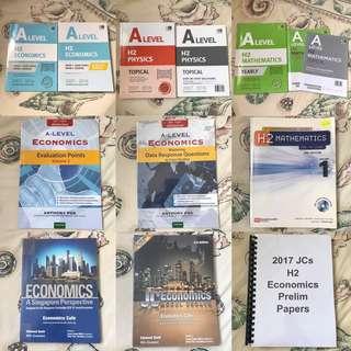 JC A Level H2 Mathematics / Physics / Economics TYS / Guide Books / Prelim Papers
