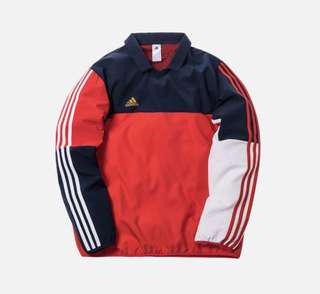 🚚 WTT/WTS Adidas x Kith L/S Navy/Red oversize S