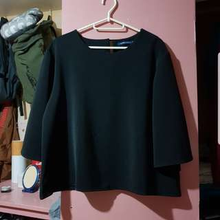 Candy Black Bell Sleeve Top