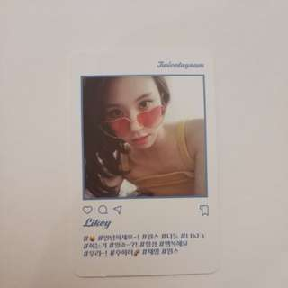 Chaeyoung twicetagram photocard