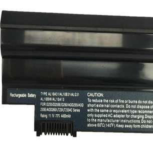 (291)FengWings® Laptop Battery AL10A31 AL10B31 AL10G31 AL13D32 For Acer Aspire One D255(PAV70) D257 D260 D270 522 722 Packard Bell Easynote EM69 (11.1V 4400mAh)