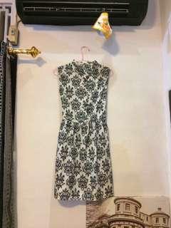 Baroque midi dress