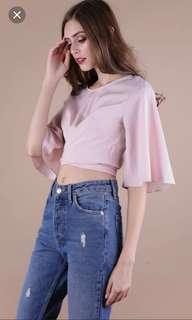 TTR pink Lena Flare top