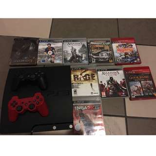 PS3 good condition with games