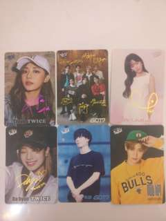 Twice,Lovelyn,Winwin Got7 Yes card