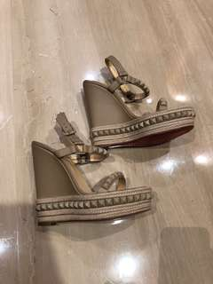 Christian Louboutin Nude Wedges size 39