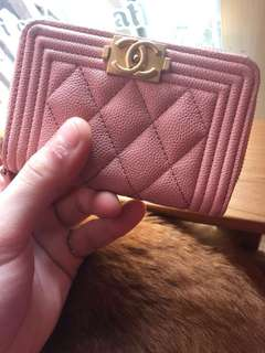 Chanel coin purse with pink
