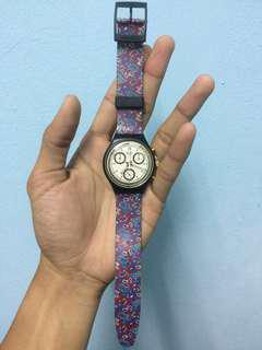 SWATCH CHRONO PAISLEY DESIGN 1991