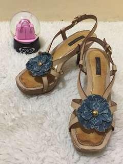 Authentic Louis Vuitton Freesia Denim Sandals