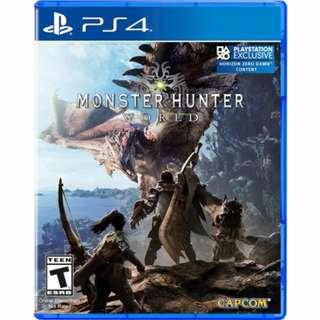 Monster hunter world  PS4 (MHW)