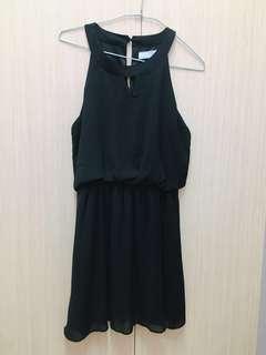 🚚 二手 Airspace 雪紡 黑色 氣質款 洋裝