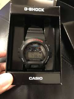 New Casio G-Shock Black Watch 黑色錶 with Suntory engravement DW-6900-1VDR