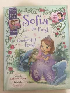 Sofia the first hardcover story book (include digital song)