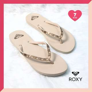 Authentic Roxy Cream/Tan Flip Flops