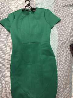 Bodysuit emerald green dress